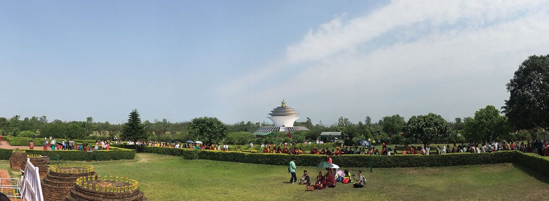Mahasiddha Sanctuary for Universal Peace Lumbini nepal, from Mayadevi site